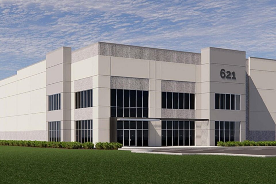 Charlotte-headquartered Collett Industrial is developing a 196,560-square-foot industrial building in the Carolina Pines Industrial Park in Blythewood. (Rendering/Provided)