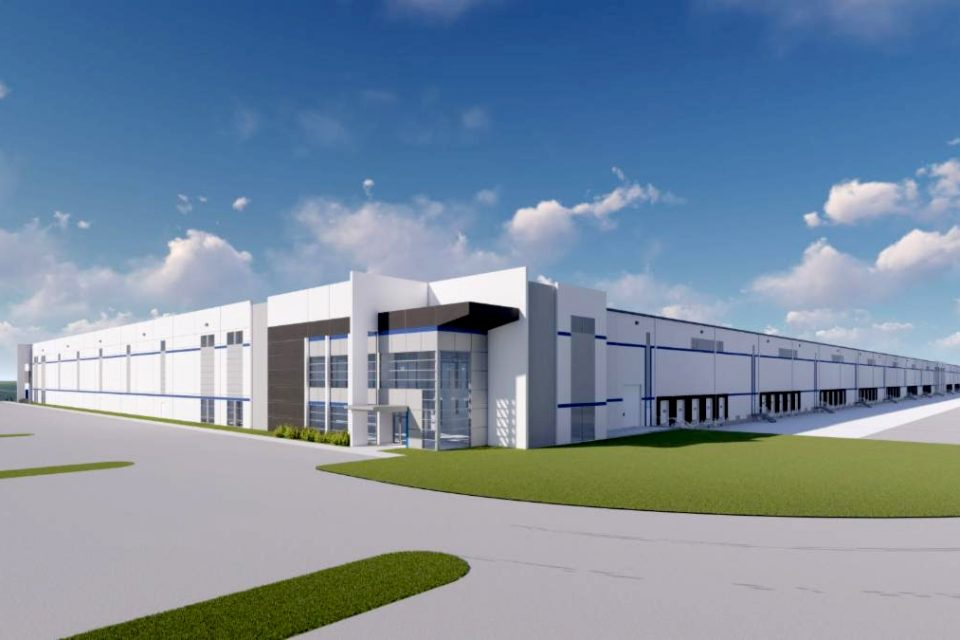 The industrial speculative building will come online later this year. (Rendering/The Keith Corporation)